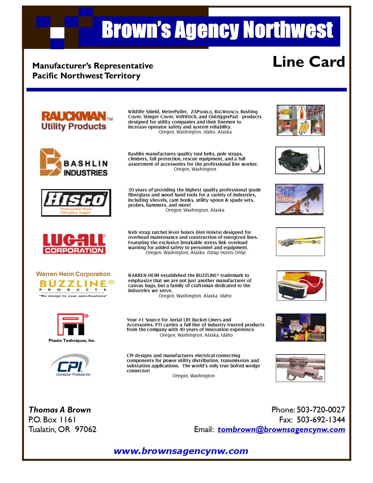 LINE CARD FEB 2016